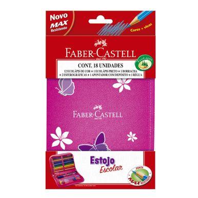 estojo-nylon-rosa-facer-castell-c18-pecas