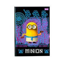caderno-brochura-cd-Minions-140x202mm-48fls-preto-e-lilas