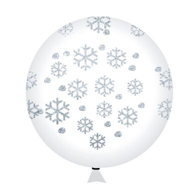 balao-happy-day-cristal-flocos-de-neve-com-glitter-nº-9-redondo-com-50-unidades