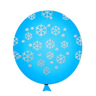balao-happy-day-azul-celeste-flocos-de-neve-com-glitter-nº-9-redondo-com-50-unidades
