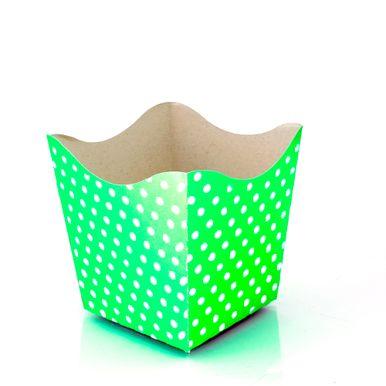 cachepo-nc-toys-pequeno-10-unidades-verde-limao-com-poa-branco