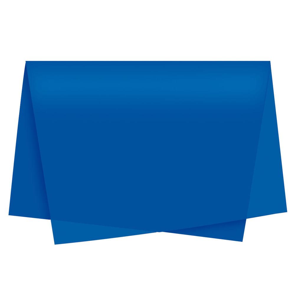 Papel De Seda Cromus 49x69cm Azul Royal C 100 Folhas - Central 25 62a57f64801