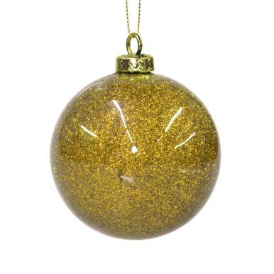 bola dourada decorada