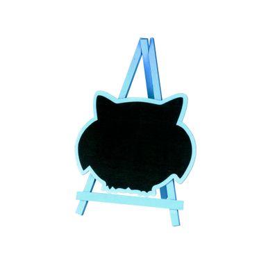 Lousa-C-cavalete-20x28cm-C-formato-Gato-Azul-C01-Unidade