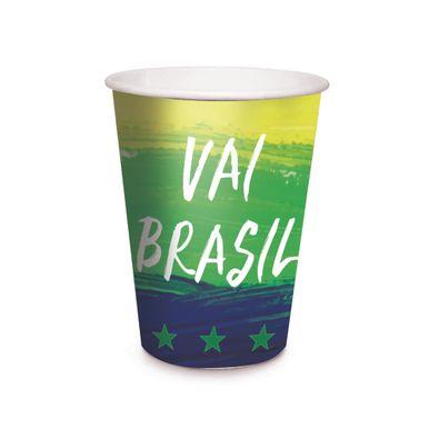 Copo-De-Papel-330ml-Cromus-Vai-Brasil-C08-Unidades