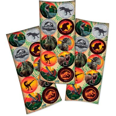 Adesivo-Redondo-Jurassic-World-C30-Unidades-3-Cartelas