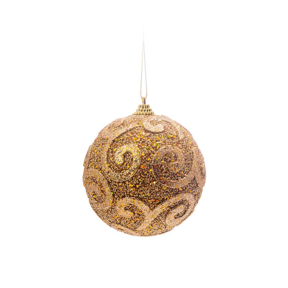 Bolas Natalinas de Isopor 10cm Com Detalhes em Glitter