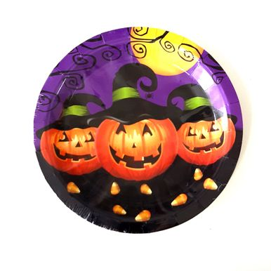 prato-descartavel-18cm-halloween-silver-festas