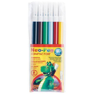 Canetinha-Hidrografica-Compactor-Neo-Pen-Gigante-C-6-Cores---Sortidas