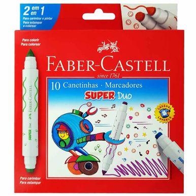 Canetinha-Hidrografica-Super-Duo-Faber-Castell-C-10-Cores---Sortidas