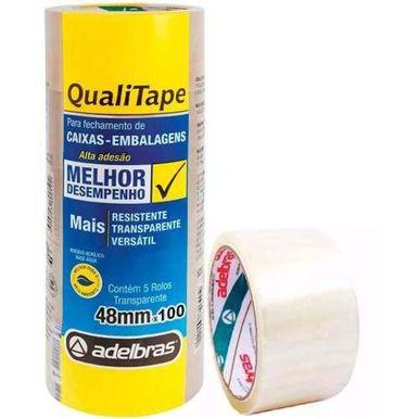 Fita-Qualitape-Adelbras-Transparente-48mm-C-45-Metros---4-rolos