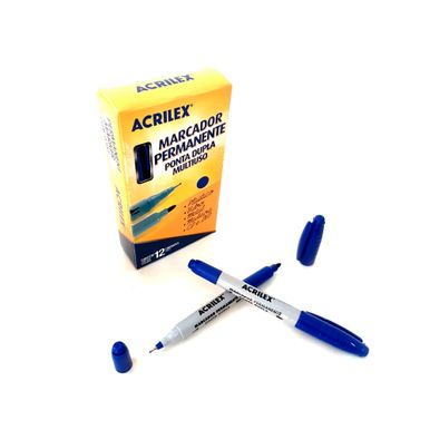 Caneta-Permanente-Acrilex-Azul-Ponta-Dupla