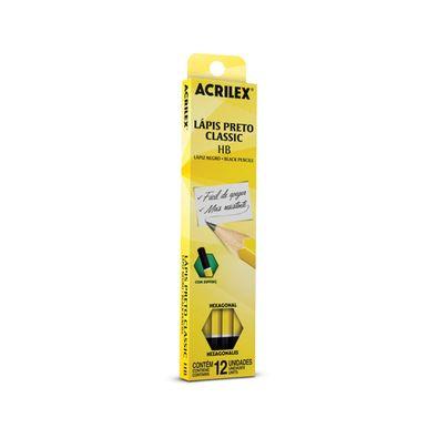 Lapis-grafite-acrilex-HB-com-12-unidades
