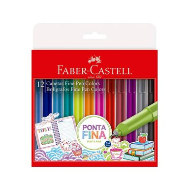 caneta-finepen-faber-castel-com-12-cores
