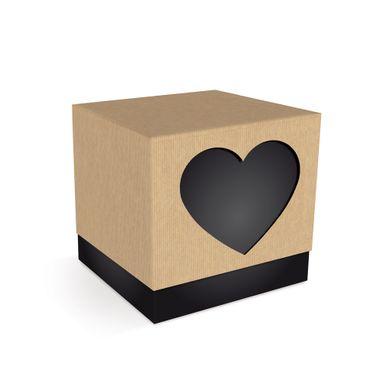 Embalagens_Para_Casamento_Felizes_Para_Sempre_Caixa_Cubo_Coracao_Preto