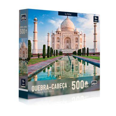 Quebra-Cabeca---Maravilhas-Do-Mundo-500-Pecas---Taj-Mahal
