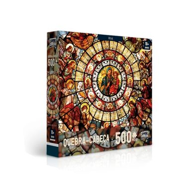 Quebra-Cabeca---Arte-Sacra-500-Pecas---Vitral