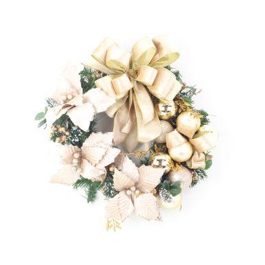 Guirlanda-Verde-35cm-Ouro-e-Nude-lacos-e-flores-7252500001047