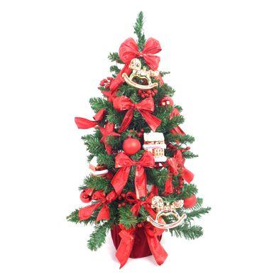 Mini-Arvore-de-Natal-Decorada-Base-Veludo-Enfeites-Vermelhos-7252500000999