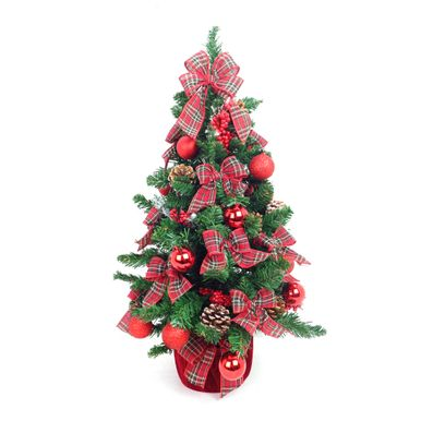 Mini-Arvore-de-Natal-Decorada-Base-Veludo-Lacos-Xadrez-7252500001000